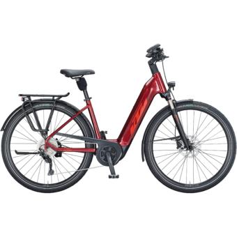 KTM MACINA TOUR P 610 EASY ENTRY dark red (fire orange+black) Unisex Elektromos Trekking Kerékpár 2021