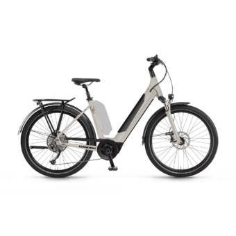 "Winora Sinus 9 i625 27.5"" EASY ENTRY Linenwhite Unisex Elektromos Trekking Kerékpár 2021"