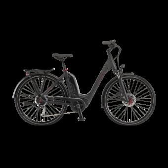 """Winora Tria 9 500 26"""" Black Matt EASY ENTRY Unisex Elektromos Trekking Kerékpár 2021"""