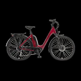 "Winora Tria 9 500 28"" Glaze Red EASY ENTRY Unisex Elektromos Trekking Kerékpár 2021"