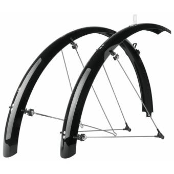 """SKS-Germany Bluemels Trekking 28"""" kerékpár sárvédő szett [fekete, 35 mm]"""