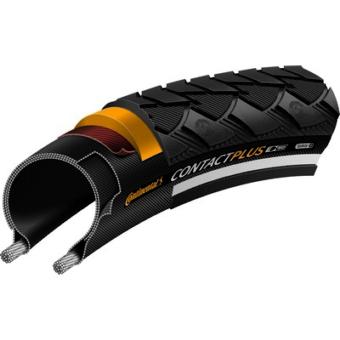 Continental gumiabroncs kerékpárhoz 42-635 Contact Plus 28x1 1/2 fekete/fekete, reflektoros