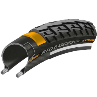 Continental gumiabroncs kerékpárhoz 37-622 RIDE Tour 28x1 3/8x1 5/8 fekete/fekete, reflektoros