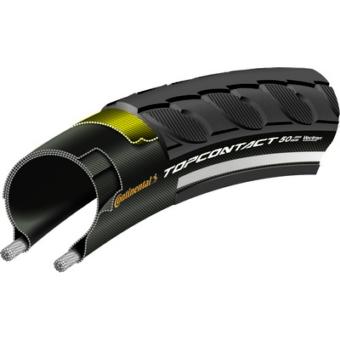Continental gumiabroncs kerékpárhoz 50-584 TopContact II 27,5x2,0 fekete/fekete, Skin hajtogathatós reflektoros