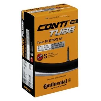 Continental belső tömlő kerékpárhoz Tour 26 slim 28/32-559/597 S42 dobozos (Egységkarton: 25 db)