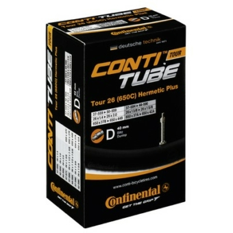 Continental belső tömlő kerékpárhoz Tour 26 wide Hermetic Plus 47/62-559 D40 dobozos (Egységkarton: 25 db)