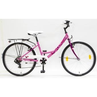 Csepel FLORA 24 6SP 17 ROZSA-CIKLÁMEN SZITAKÖTÖ gyermek kerékpár - 2020