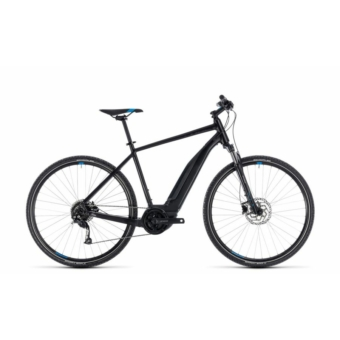 CUBE CROSS HYBRID ONE 500 BLACK´N´BLUE 2018 Elektromos Kerékpár
