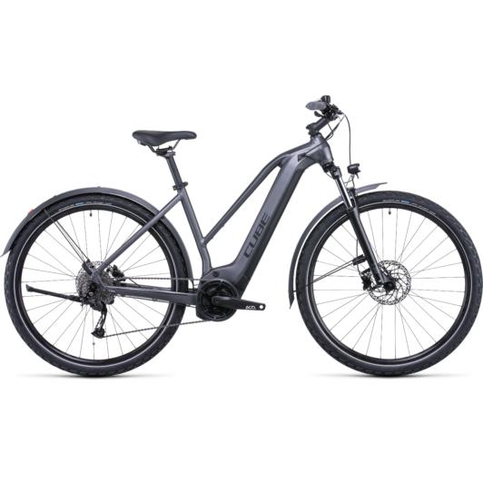 CUBE NURIDE HYBRID PERFORMANCE 500 ALLROAD TRAPÉZ GRAPHITE´N´BLACK Női Elektromos Cross Trekking Kerékpár 2022