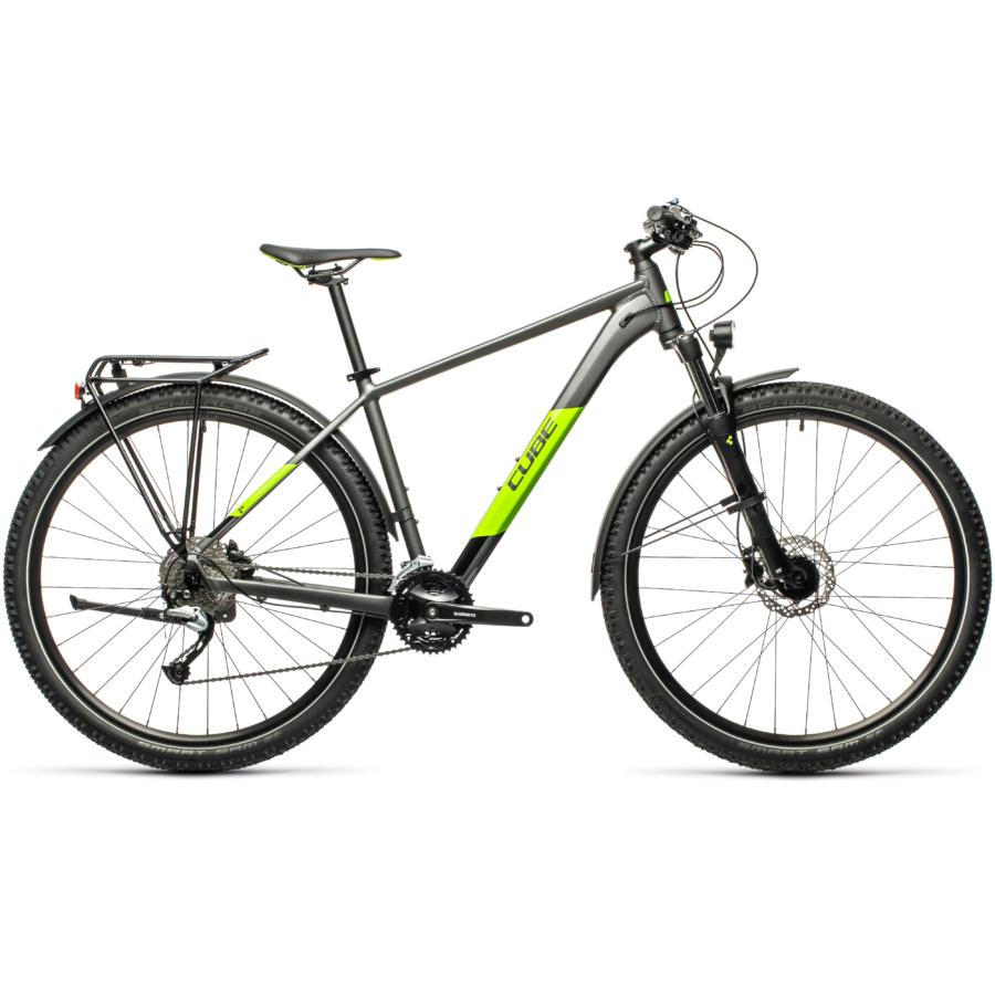 CUBE AIM SL ALLROAD 29 grey´n´green Férfi MTB Kerékpár 2021