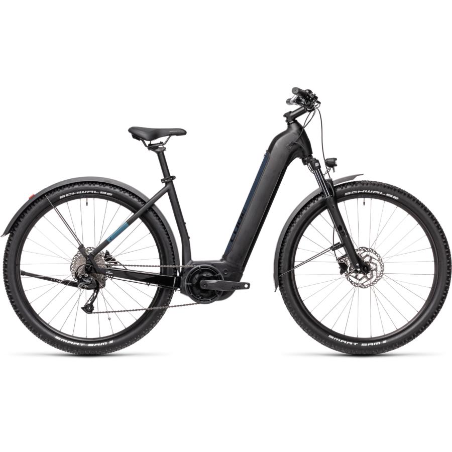 CUBE NURIDE HYBRID PERFORMANCE 625 ALLROAD black´n´novablue Unisex Elektromos MTB Kerékpár 2021