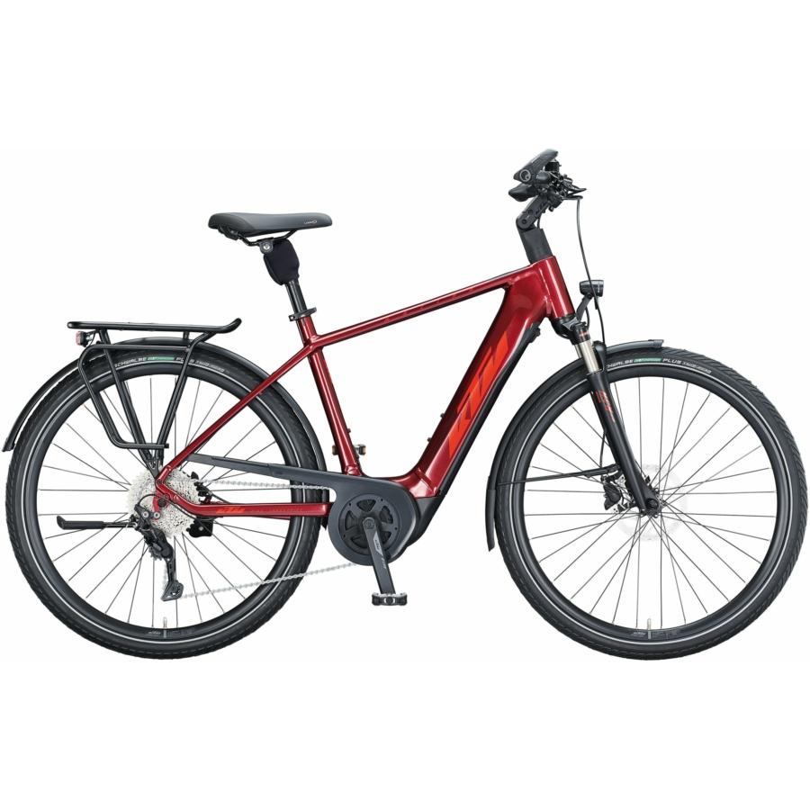 KTM MACINA TOUR P 610 TRAPÉZ dark red (fire orange+black) Női Elektromos Trekking Kerékpár 2021