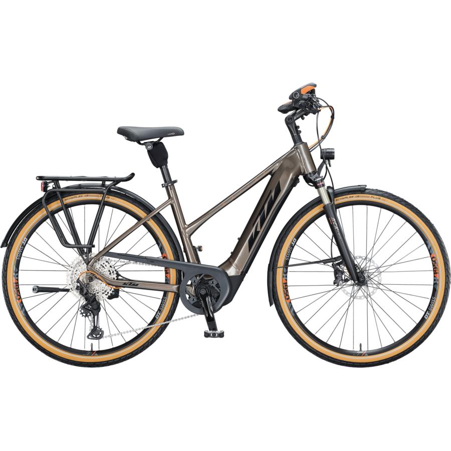 Ktm Macina Style 610 NYON TRAPÉZ oak (black+orange) Női Elektromos Trekking Kerékpár 2021