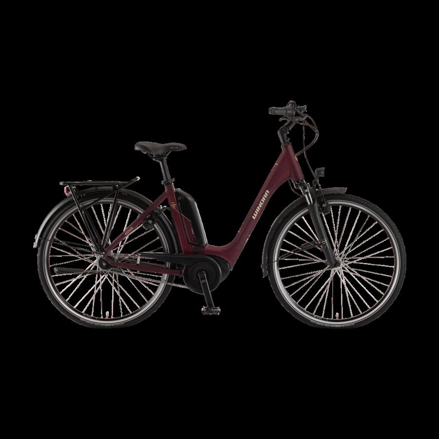 "Winora Tria N7eco 400 28"" Burgundyred EASY ENTRY Unisex Elektromos Kerékpár 2021"